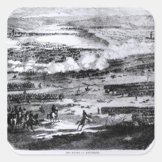 Striden av Austerlitz, 2 December 1805 Fyrkantigt Klistermärke
