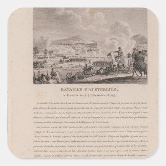 Striden av Austerlitz, 2nd December 1805 Fyrkantigt Klistermärke