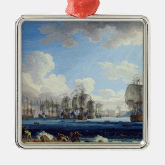 Striden av Chesma på 5th Juli 1770 Julgransprydnad Metall