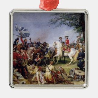 Striden av Fontenoy, 11th maj 1745, 1828 Silverfärgad Fyrkantigt Julgransprydnad