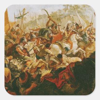 Striden av Granicusen i maj 334 BC Fyrkantigt Klistermärke