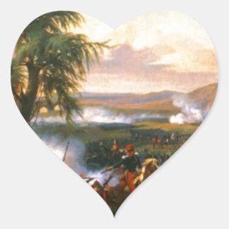 Striden av Habra, Algeriet, December 1835 Hjärtformat Klistermärke