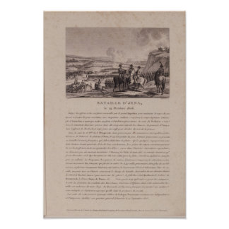 Striden av Jena, 14th Oktober 1806 Poster