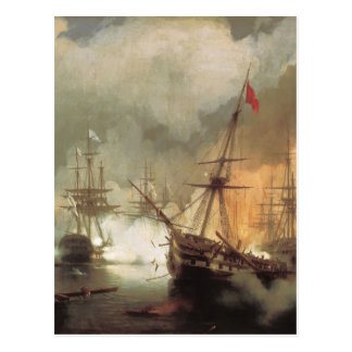 Striden av Navarino av Ivan Aivazovsky Vykort