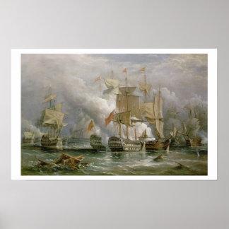 Striden av uddSt. Vincent, 14th Februari 1797 Poster