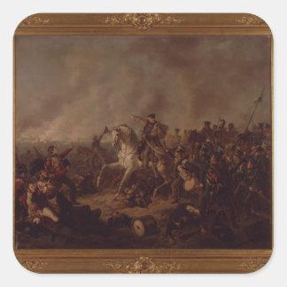Striden av Waterloo Fyrkantigt Klistermärke