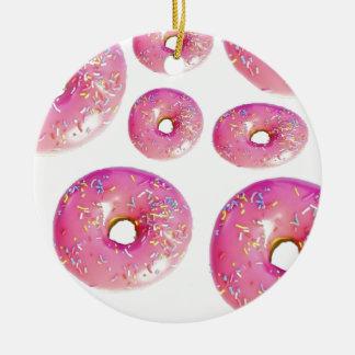 Strila mig donuts julgransprydnad keramik