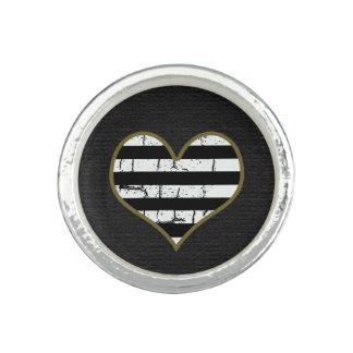 stripy hjärta foto ring