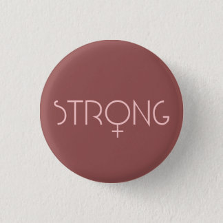 strong,woman,pink mini knapp rund 3.2 cm