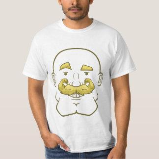 Strongstache (skalligt, blont hår) t shirts
