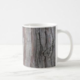 Struktur för cederträträdskäll kaffemugg