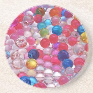 struktur för coloregelébollar underlägg sandsten