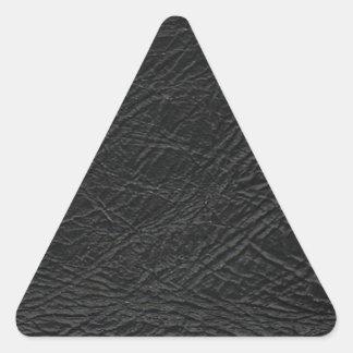 struktur för fauxsvartläder triangelformat klistermärke