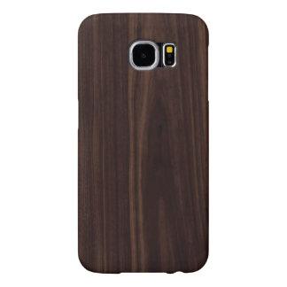 Struktur för korn för chokladmahogny mörk Wood Samsung Galaxy S6 Fodral
