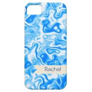 Struktur för personligblåttvatten - beige namn barely there iPhone 5 fodral
