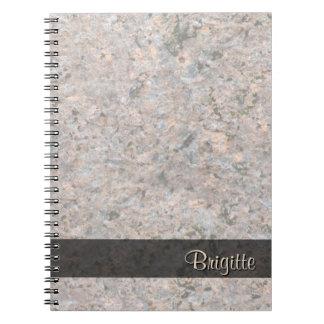 Struktur för stenfotogeologi någon text anteckningsbok