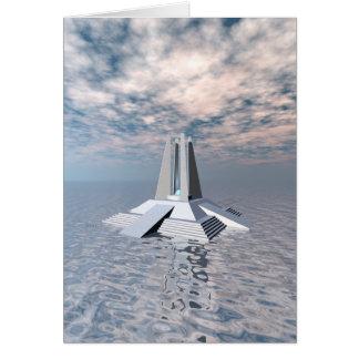 Strukturellt torn av Atlantis Hälsningskort