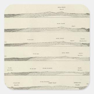 Strukturera delar upp till och med de Uinta bergen Fyrkantigt Klistermärke