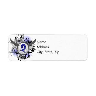 Strumpebandsorden med vingar CFS Returadress Etikett