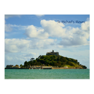 Sts Michael montering Marazion Cornwall England Vykort