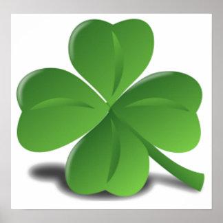 Sts Patrick affisch för klöver för dagShamrock