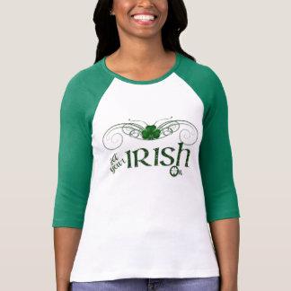 """Sts Patrick dag - """"få din irländare på"""" skjortan Tröjor"""