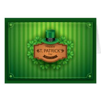 Sts Patrick dag - hatten & klöver - skräddarsy Hälsningskort