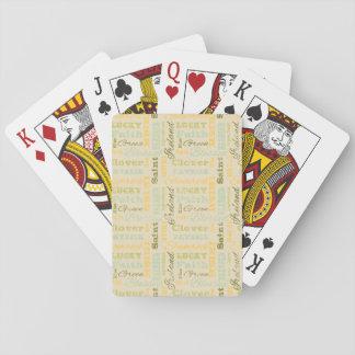 Sts Patrick dag som leker kort Spel Kort