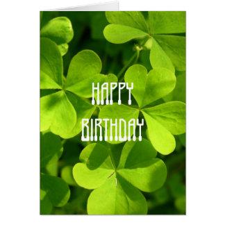 Sts Patrick dagfödelsedag Hälsningskort