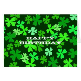 Sts Patrick dagfödelsedag OBS Kort