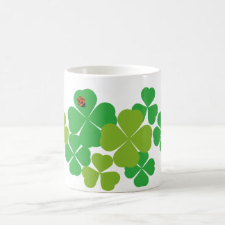 Sts Patrick dagklöver & nyckelpiga Kaffemugg