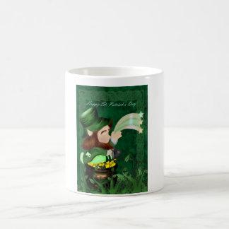 Sts Patrick dagmugg med leprachorn Kaffemugg