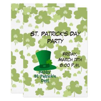 Sts Patrick dagparty 12,7 X 17,8 Cm Inbjudningskort