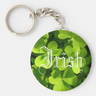 Sts Patrick dagShamrocks Rund Nyckelring