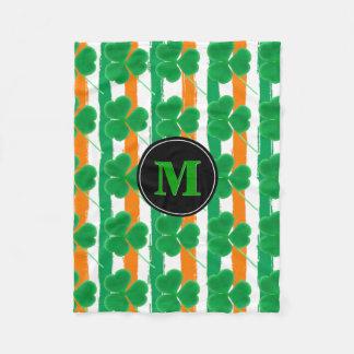 Sts Patrick färger för flagga för dagShamrocks | Fleecefilt