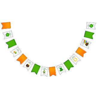 Sts Patrick flaggor för dagirländare