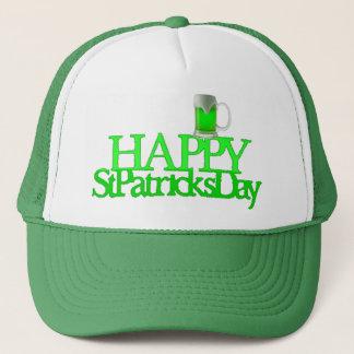 Sts Patrick för grön öl för neon suddiga lyckliga Truckerkeps