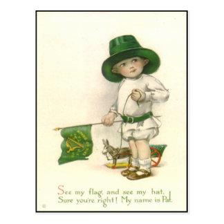 Sts Patrick för vintage irländsk vykort för dag