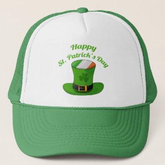 Sts Patrick hatt för dagtroll & Shamrockklöver Truckerkeps