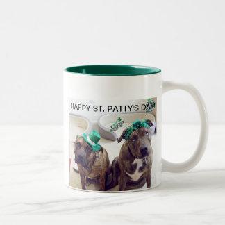 Sts Patrick hundmugg Två-Tonad Mugg