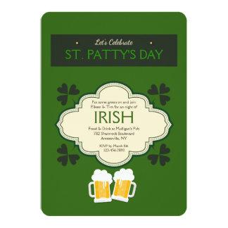 Sts Patrick inbjudan för dagfirande
