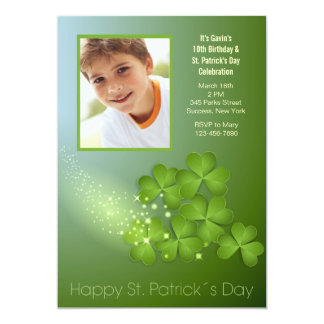 Sts Patrick inbjudan för dagShamrocks