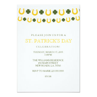 Sts Patrick inbjudningar för dagparty