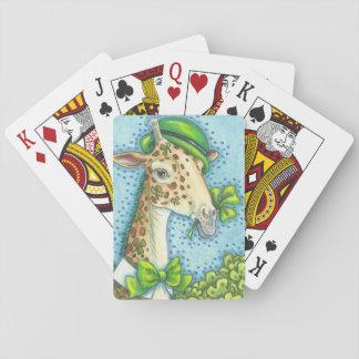 STS PATRICK IRLÄNDSKA GIRAFF som LEKER KORTpoker Casinokort