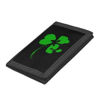 Sts Patrick klöver för daggrönt - plånbok