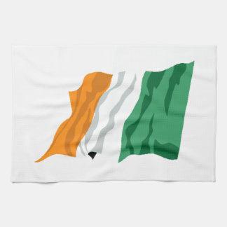 Sts Patrick kökshandduk för Irland flagga