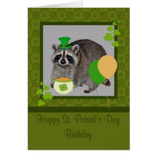 Sts Patrick kort för hälsning för dagfödelsedag