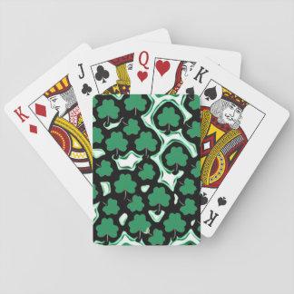 Sts Patrick mönster för dagshamrock Casinokort