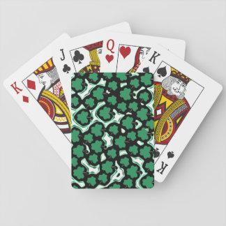 Sts Patrick mönster för dagshamrock Spel Kort