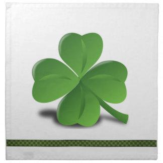 Sts Patrick servett för klöver för dagShamrock